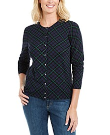 Holiday Plaid-Print Cardigan, Created For Macy's