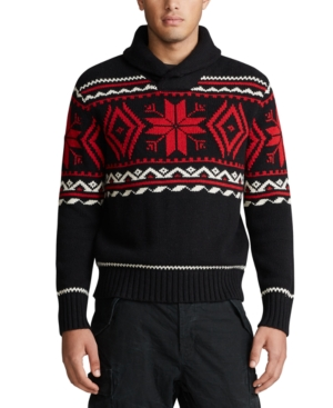 Polo Ralph Lauren Sweaters MEN'S SNOWFLAKE COTTON-BLEND SWEATER