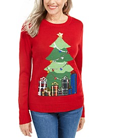 Petite Midnight Presents Sweater, Created For Macy's