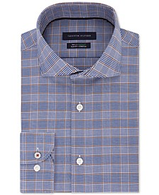 Men's Slim-Fit Non-Iron THFlex Supima® Performance Stretch Glen Check Dress Shirt