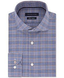 Tommy Hilfiger Men's Slim-Fit Non-Iron THFlex Supima® Performance Stretch Glen Check Dress Shirt