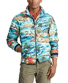 Men's Holden Packable Down Tropical Print Jacket