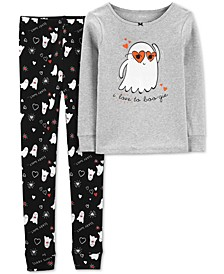 Little & Big Girls 2-Pc. Cotton Boo-Gie Pajama Set