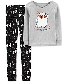 Little & Big Girls 2-Pc. Cotton Boo-Gie Pajama Set