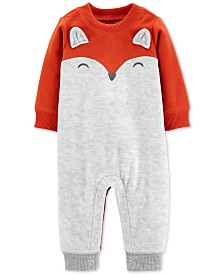 Carter's Baby Boys Fox Fleece Jumpsuit