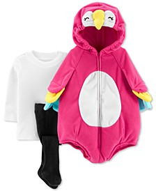 Baby Girls 3-Pc. Little Parrot Costume