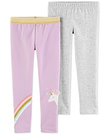 Baby Girls 2-Pc. Sparkly Unicorn Leggings Set