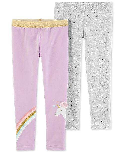 Carter's Baby Girls 2-Pc. Sparkly Unicorn Leggings Set