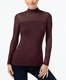 INC Mock-Turtleneck Illusion Top, Created for Macy's