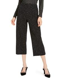 Alfani Pull-On Wide-Leg Jacquard Culottes, Created For Macy's