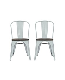 Zeno Metal Dining Chair with Wood Seat