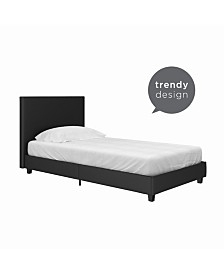 EveryRoom Celena Faux Leather Upholstered Bed, Twin size
