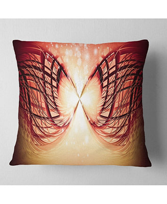 Design Art Designart Bright Light On Red Fractal Design Abstract Throw Pillow 18 X 18 Reviews Decorative Throw Pillows Bed Bath Macy S