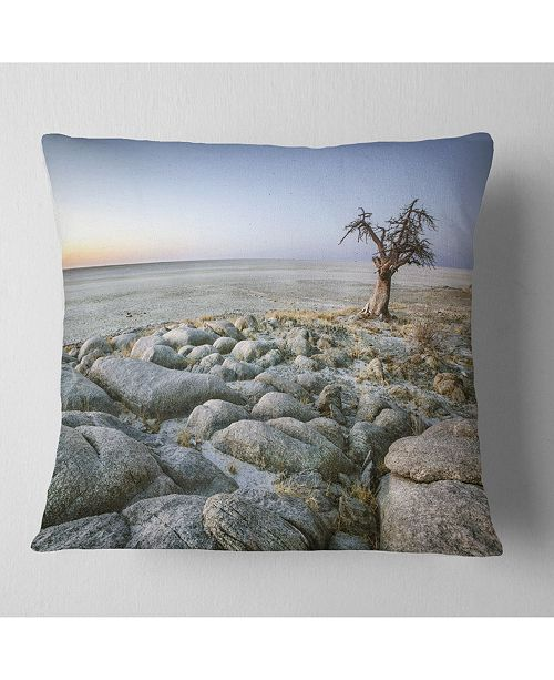 Design Art Designart Baobab Tree On Rocky Terrain Landscape Printed Throw Pillow 16 X 16 Reviews Decorative Throw Pillows Bed Bath Macy S