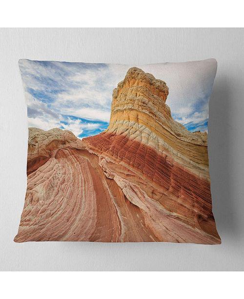 "Design Art Designart Paria Plateau In Northern Arizona Landscape Printed Throw Pillow - 18"" X 18"""