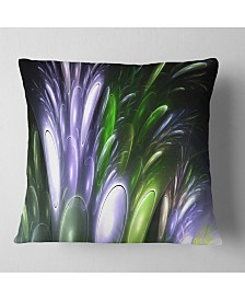 """Designart Mysterious Psychedelic Flower Abstract Throw Pillow - 26"""" X 26"""""""