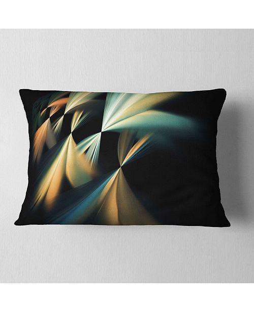 "Design Art Designart Floating Abstract Fractal Designs Abstract Throw Pillow - 12"" X 20"""