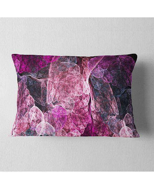 "Design Art Designart Abstract Purple Fractal Illustration Abstract Throw Pillow - 12"" X 20"""