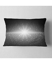 "Designart Stardust And Bright Shining Stars Abstract Throw Pillow - 12"" X 20"""