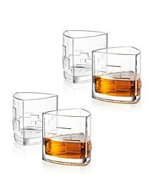 Revere Triangle Whiskey Glasses, Set of 4