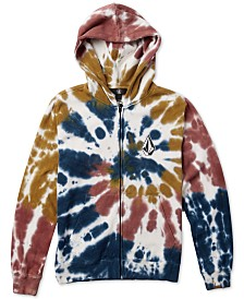 Volcom Big Boys Cool Stone Tie-Dyed Full-Zip Hoodie