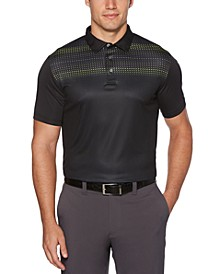 Men's Big & Tall Mini Geo-Print Polo Shirt