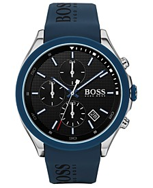 Men's Chronograph Velocity Blue Silicone Strap Watch 45mm