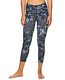 Om Printed High-Rise Capri Leggings