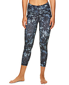 Gaiam Om Printed High-Rise Capri Leggings