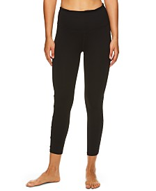 Gaiam Om Shiva Mesh-Trimmed High-Rise Capri Leggings
