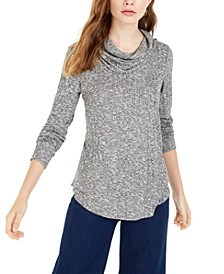 Juniors' Cowl-Neck Rib-Knit Sweater