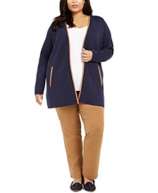 Plus Size Milano Zip-Pocket Cardigan, Created for Macy's
