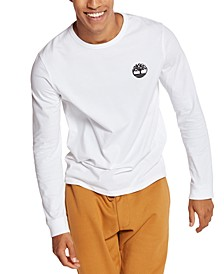 Men's Puffed Logo Graphic Long Sleeve T-Shirt