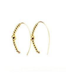 Gold-Tone Slider Hoops