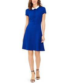 Pappagallo Collared Fit & Flare Dress