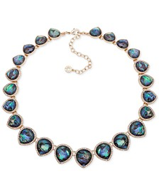 """Gold-Tone Stone & Crystal Collar Necklace, 16"""" + 3"""" extender"""