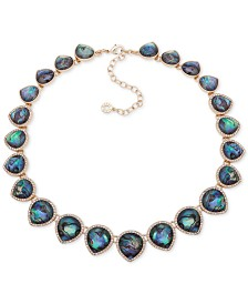 """Anne Klein Gold-Tone Stone & Crystal Collar Necklace, 16"""" + 3"""" extender"""