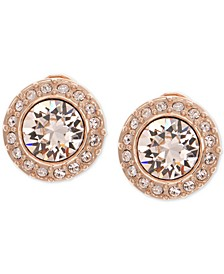 Crystal Clip-On Button Earrings