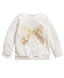 Toddler Girls Bow-Print Velour Top, Created For Macy's