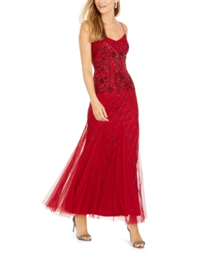 Vintage 1920s Dresses – Where to Buy Adrianna Papell Beaded Gown $349.00 AT vintagedancer.com
