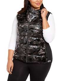 Calvin Klein Performance Plus Size Printed Puffer Vest