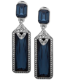 Lauren Ralph Lauren Pavé & Stone Clip-On Drop Earrings