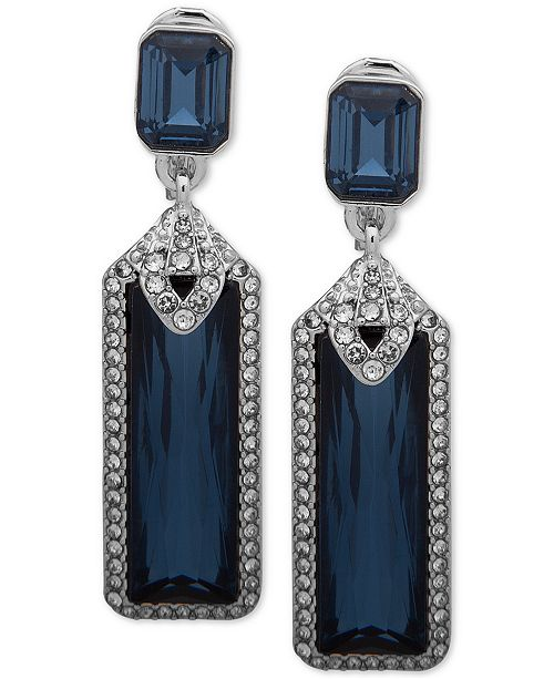 Lauren Ralph Lauren Pavé & Stone Clip-On Drop Earrings