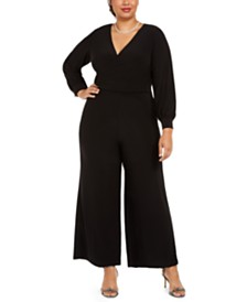 Adrianna Papell Plus Size Jersey Jumpsuit