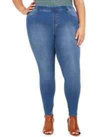 Style & Co Plus Size Tummy-Control Pull-On Jeggings, Created For Macy's