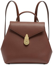 Lock Leather Backpack