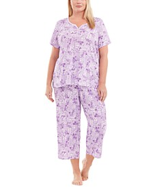Plus Size Capri Cotton Pajama Set, Created For Macy's