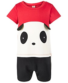 First Impressions Baby Boys Cotton Colorblocked Panda Sunsuit, Created for Macy's