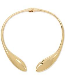 "Gold-Tone Sculptural 16"" Collar Necklace"