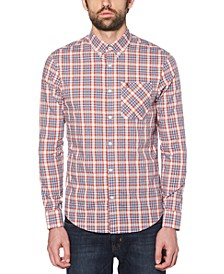 Men's Slim-Fit Dobby Check Shirt